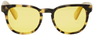 Paul Smith Tortoiseshell and Yellow Hadrian Sunglasses