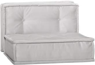 Pottery Barn Teen Cushy Lounge Armless Chair, Light Gray Faux-Suede, QS UPS