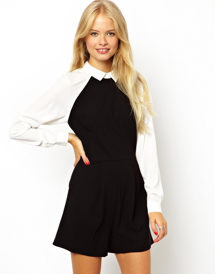 Asos Playsuit in Monochrome