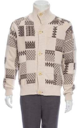 Maison Margiela Wool-Blend Quilted Cardigan