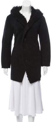 Pas De Calais Wool Hooded Button-Up Jacket