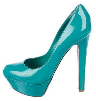 Sergio Rossi Rounded-Toe Platform Pumps