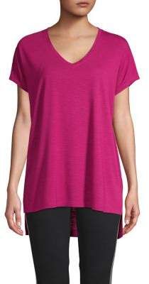 ASKYA Oversized V-Neck High-Low Tee