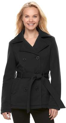 J 2 Juniors' J-2 Belted Double Breasted Coat