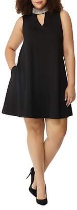 Wilson Rebel x Angels Plus Rebel x Angels Beaded-Collar A-Line Dress