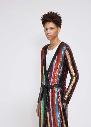 ATTICO All Over Striped Sequins Dress
