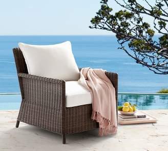 Pottery Barn Torrey Patio All-Weather Wicker Occasional Chair, Espresso