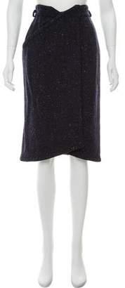 Gianni Versace Wool Tweed Wrap Skirt