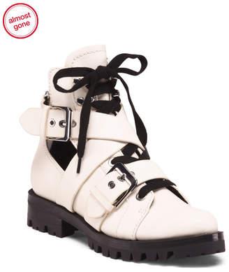 Lug Sole Leather Boots