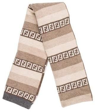 Fendi FF Zucca Wool Scarf