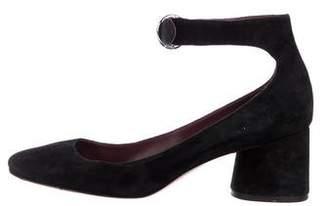 Marc Jacobs Suede Ankle Strap Pumps