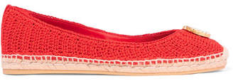 Gucci Lilibeth Logo-embellished Crocheted Cotton Espadrilles - Red