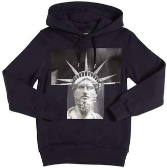 Neil Barrett Printed Cotton Sweatshirt Hoodie