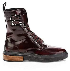 Tod's Women's Leather Combat Boots
