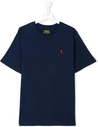 Ralph Lauren Kids Teen embroidered logo T-shirt