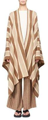 The Row Merlyn Striped Superfine Cashmere Cape