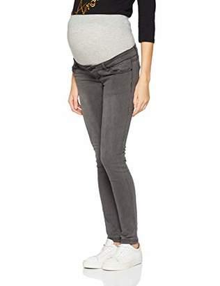 Mama Licious Mamalicious Women's Mllola Slim Grey Jeans A. Noos Trouser, Denim, W29/L34
