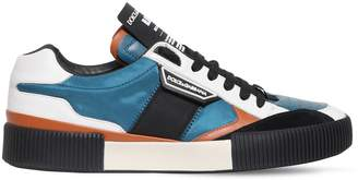 Dolce & Gabbana Leather Nylon Miami Sneakers