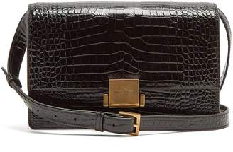 Saint Laurent Bellechasse medium crocodile-effect leather bag
