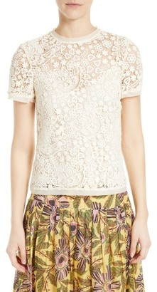 Women's Red Valentino Embroidered Hummingbird Lace Top $650 thestylecure.com