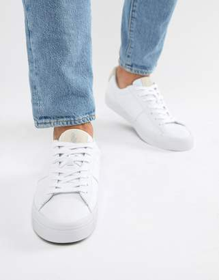 c9d8cde4c74b Polo Ralph Lauren sayer canvas trainers contrast logo in white