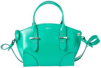 Alexander McQueen Legend Green Leather Handbag
