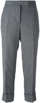 Thom Browne cropped tailored trousers $855.66 thestylecure.com