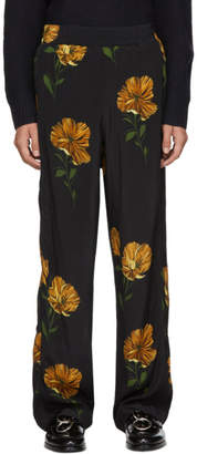 Hope Black Flower Print Break Trousers