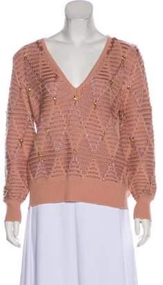 Thakoon Embellished Wool-Blend Sweater