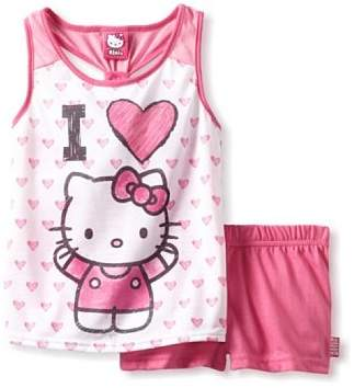 Hello Kitty Unknown Girl's Hearts Short Set