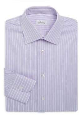 Brioni Regular-Fit Stripe Cotton Dress Shirt