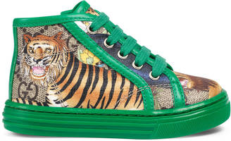 Toddler GG felines high-top sneaker $350 thestylecure.com