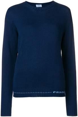 Prada crew neck jumper