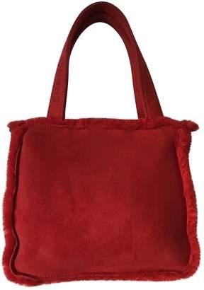 Chanel Vintage Red Suede Handbag