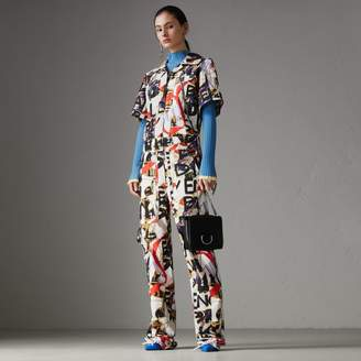 Burberry Graffiti Archive Scarf Print Cotton Jumpsuit
