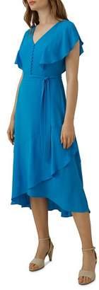 Karen Millen Fluid Draped Faux-Wrap Dress