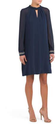 Chiffon Keyhole Dress