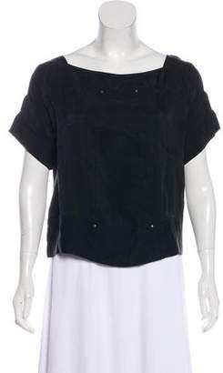Diane von Furstenberg Short Sleeve Square Neck Top