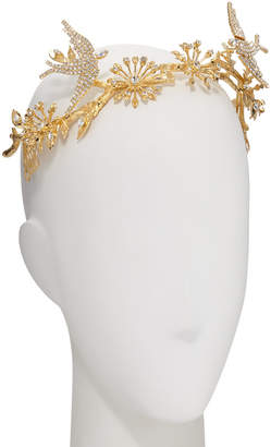Epona Valley Paramour 14K Gold-Plated Crystal Birds & Branches Crown/Tiara