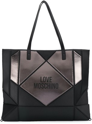 Love Moschino panelled tote bag
