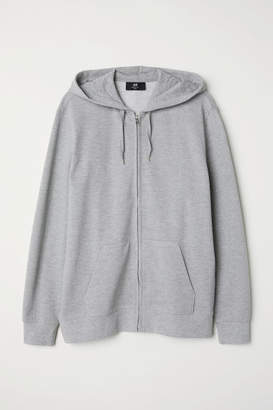 H&M Pique Hooded Jacket - Gray
