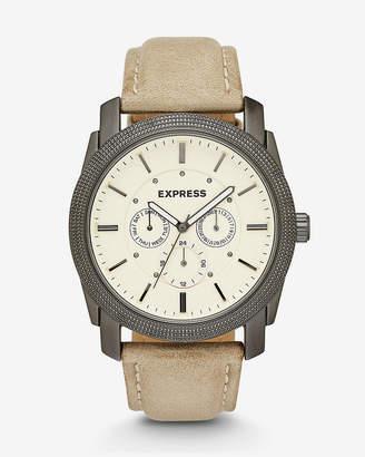 Express Rivington Multi-Function Watch- Tan Leather