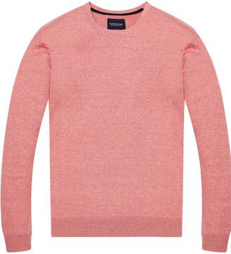 Scotch & Soda Men's AMS Blauw Regular Fit Crew Neck Knit in Cotton Cashmere Long Sleeve Top