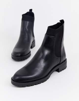 Stradivarius elastic side chelsea boot
