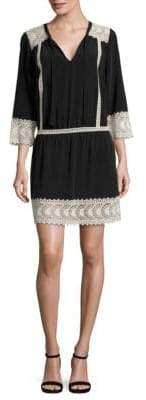 Joie Halette Lace Silk Dress