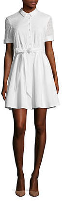 Isaac Mizrahi IMNYC Short Sleeve Fit and Flare Shirtdress