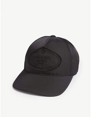b187cef2a3a at Selfridges · Prada Logo nylon baseball cap