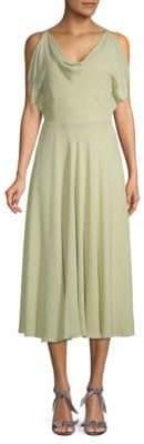 Valentino Cowl Silk Midi Dress