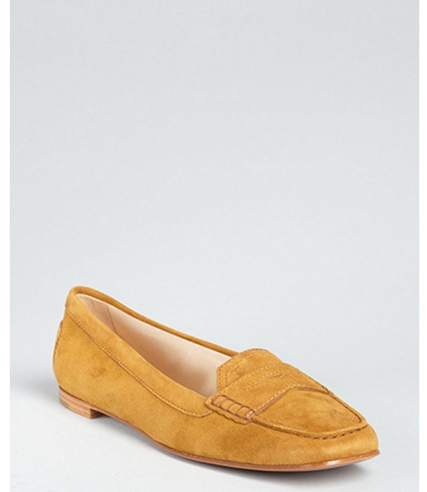 Tod's light rust suede 'Melanie' moccasin loafers