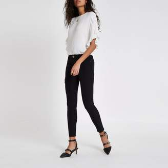 River Island Womens Black high waisted stretch trousers